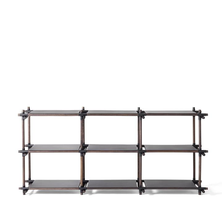 Stick System Regal 3 x 3 von Menu in Schwarz / Esche dunkel