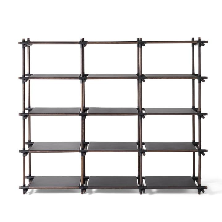 Stick System Regal 3 x 5 von Menu in Schwarz / Esche dunkel