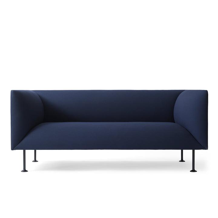 Das dunkelblaue Menu Godot Sofa von vorne