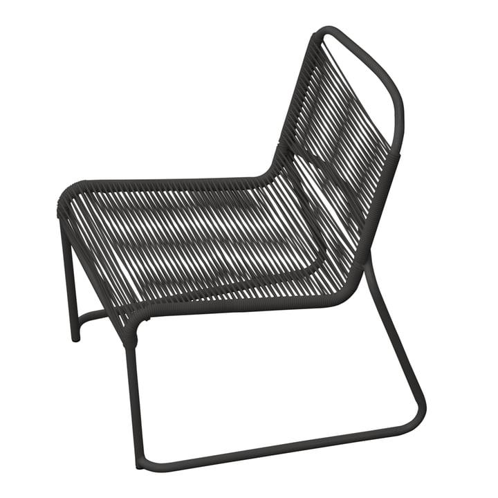 Lido Spaghetti Lounge-Sessel von Fiam in schwarz