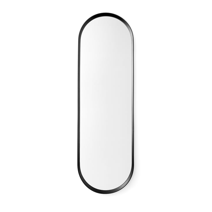 Menu Norm Oval Wandspiegel in Schwarz