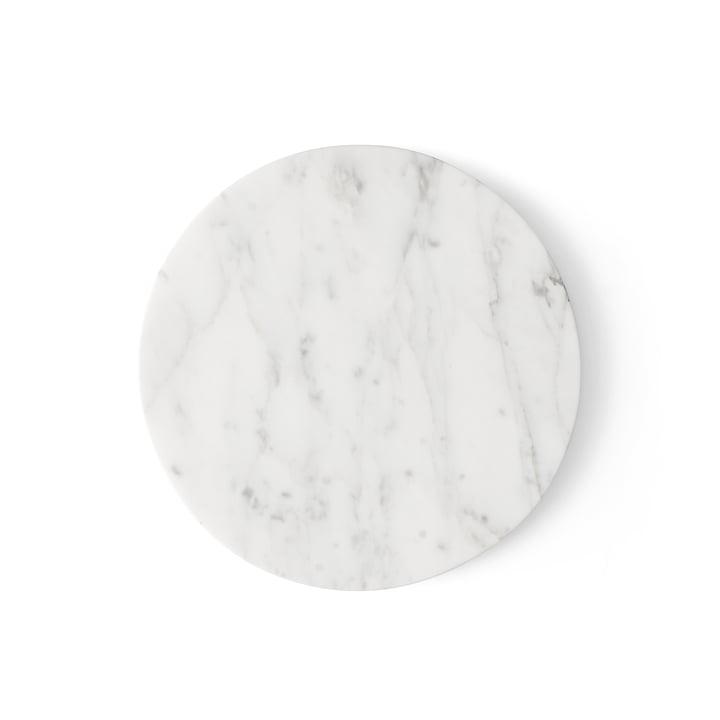 Wire Tischplatte Marmor von Menu in Weiß