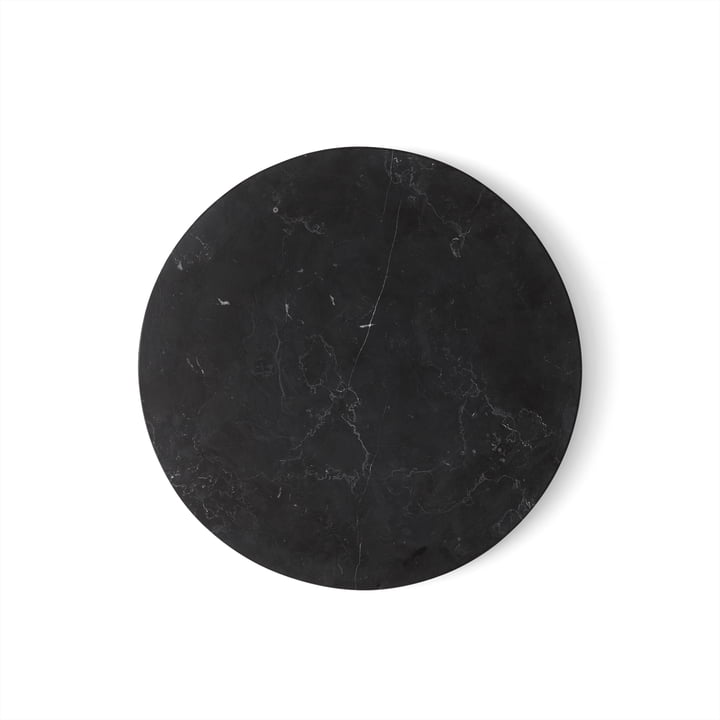 Wire Tischplatte Marmor von Menu in Schwarz