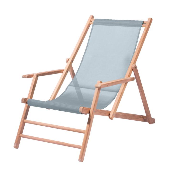 Deckchair Teakholz von Jan Kurtz in Meerblau