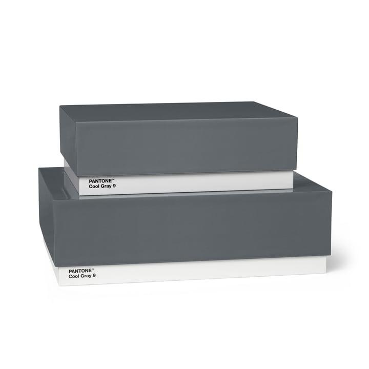 Storage Box 2er-Set von Pantone Universe in Cool Gray (9)