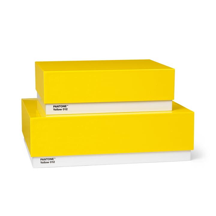 Storage Box 2er-Set von Pantone Universe in Gelb (12)