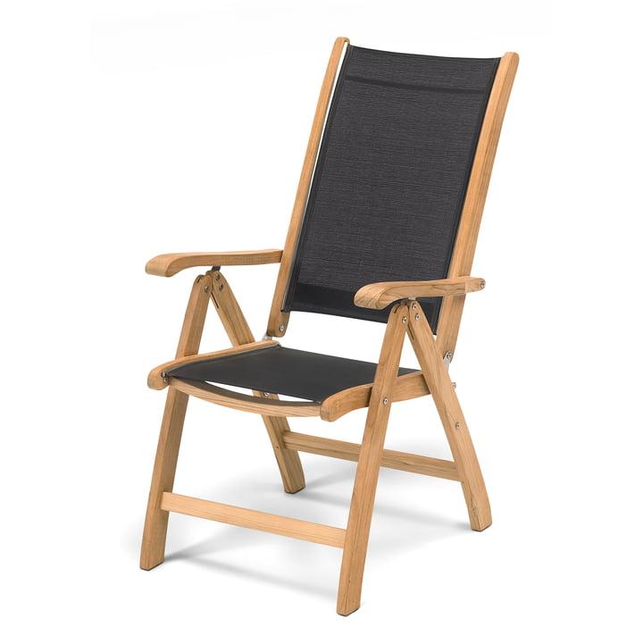 Columbus Chair stoffbespannt von Skagerak in Schwarz / Teakholz