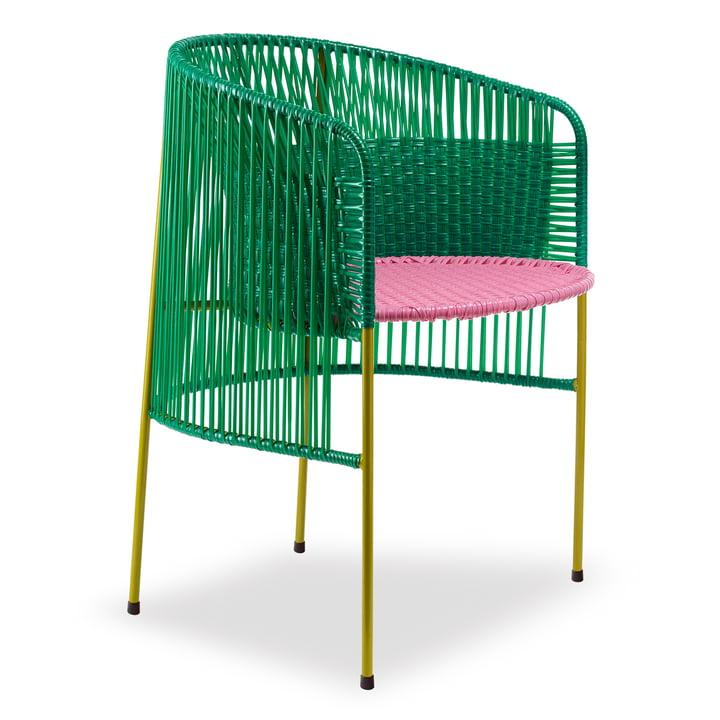 ames - caribe Dining Chair, grün / rosa / curry