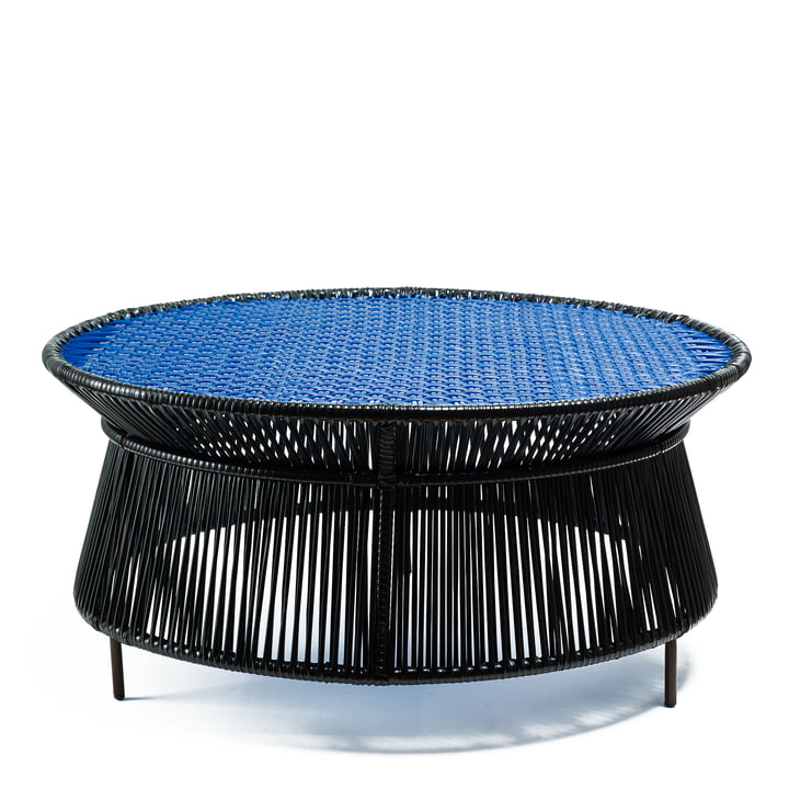 ames - caribe Low Table, schwarz / blau / braun