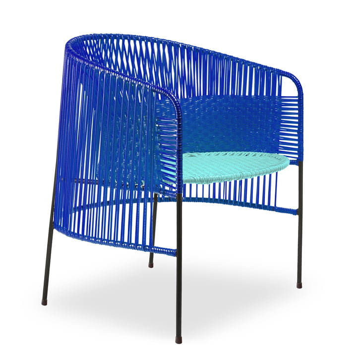 ames - caribe Lounge Chair, blau / mint / schwarz