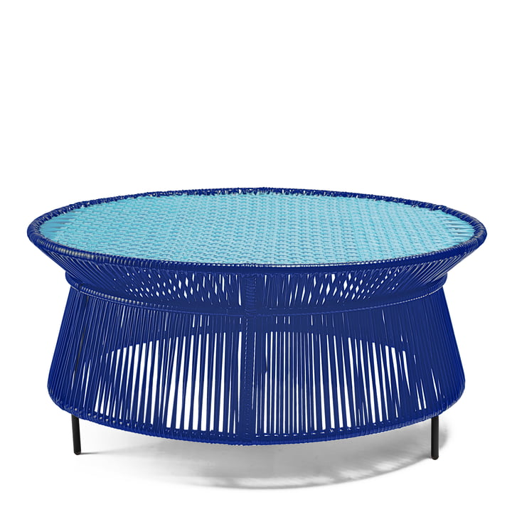 ames - caribe Low Table, blau / mint / schwarz