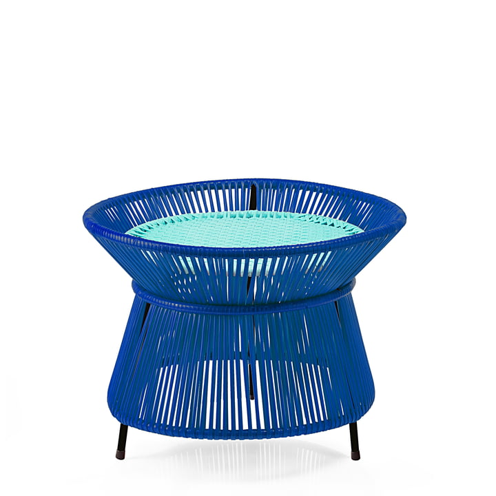 ames - caribe Basket Table, blau / mint / schwarz