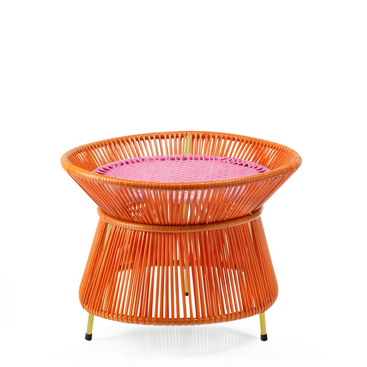 ames - caribe Basket Table, orange / rosa / curry