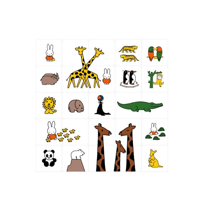 Miffy im Zoo von IXXI (20 x 20 cm)