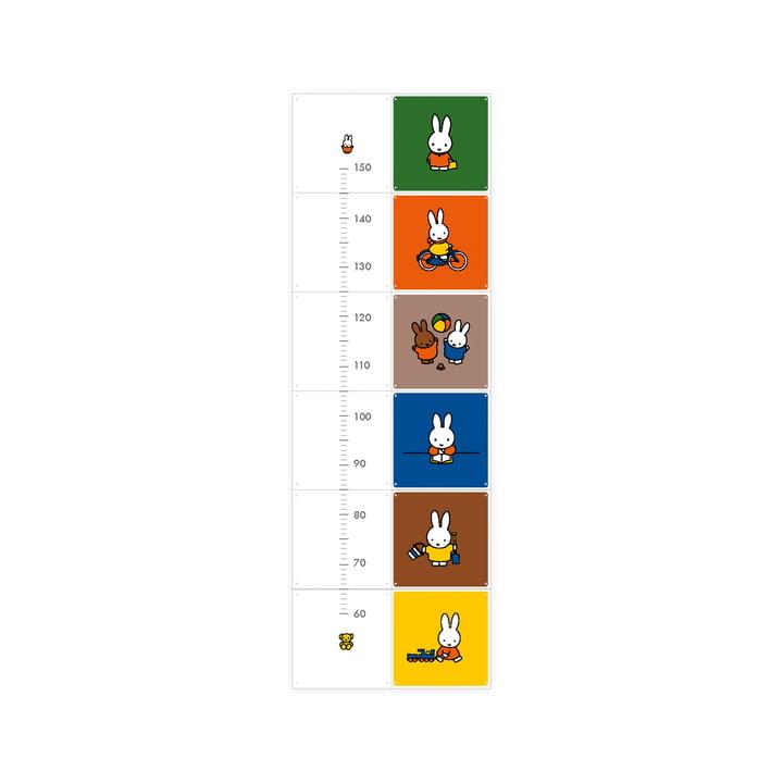 Miffy Messlatte von IXXI mit 12 Karten (20 x 20 cm)
