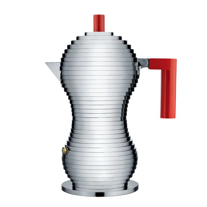 Pulcina Espressokocher 30 cl (Induktion) von Alessi in Rot