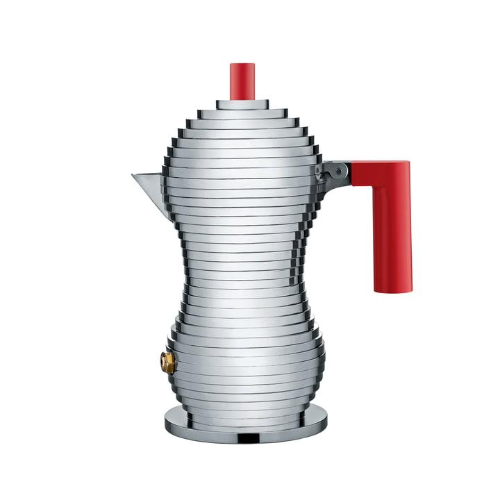 Pulcina Espressokocher 15 cl (Induktion) von Alessi in Rot