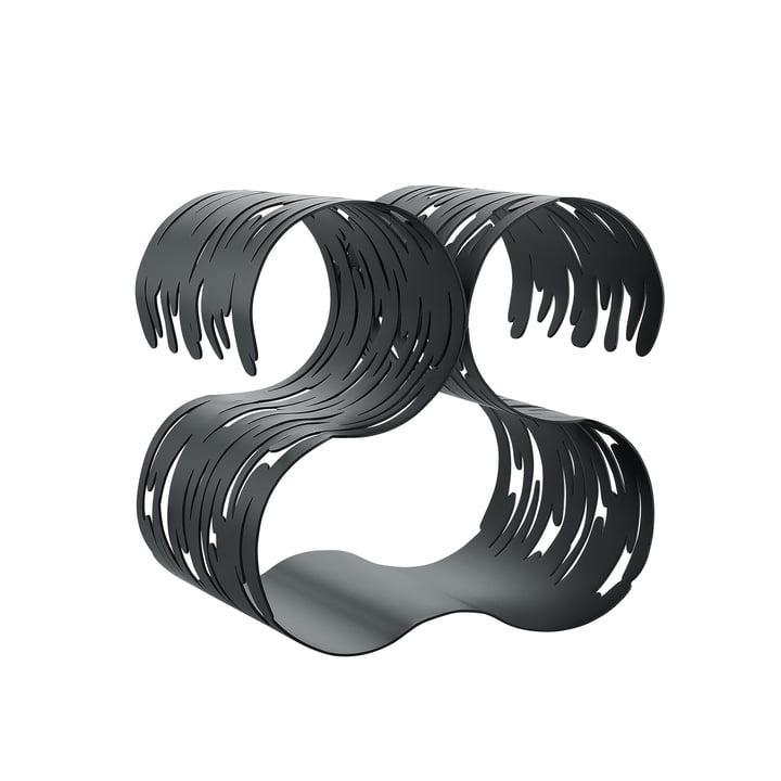 Barkcellar Flaschenregal von Alessi in Stahl schwarz lackiert