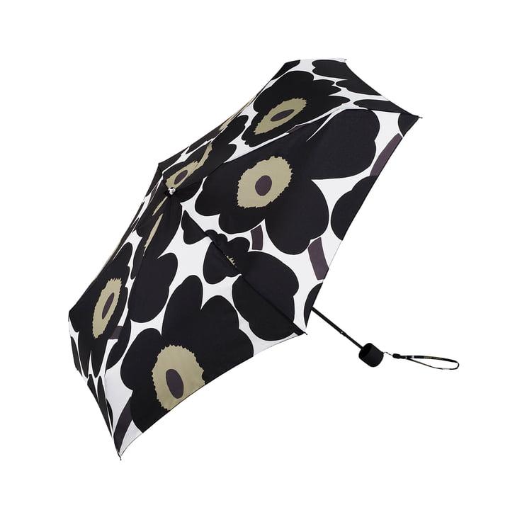 Pieni Unikko mini Regenschirm von Marimekko in Schwarz
