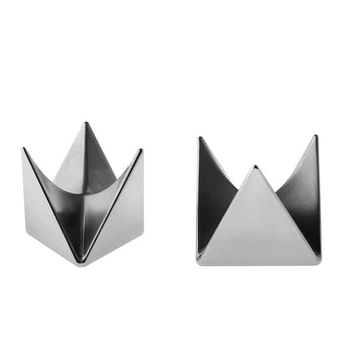 Roost Eierbecher von Alessi in Aluminium (2er-Set)