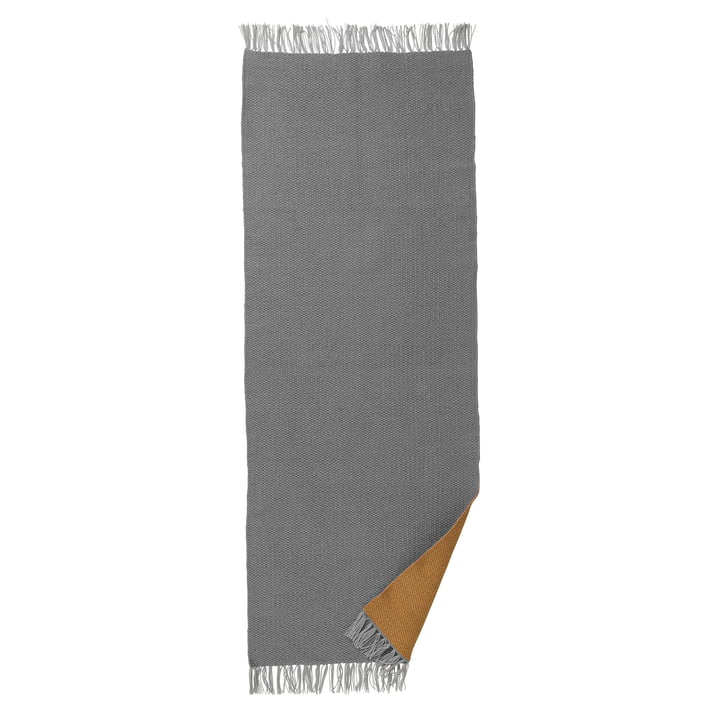 ferm Living - Nomad Teppich large, 70 x 180 cm, curry