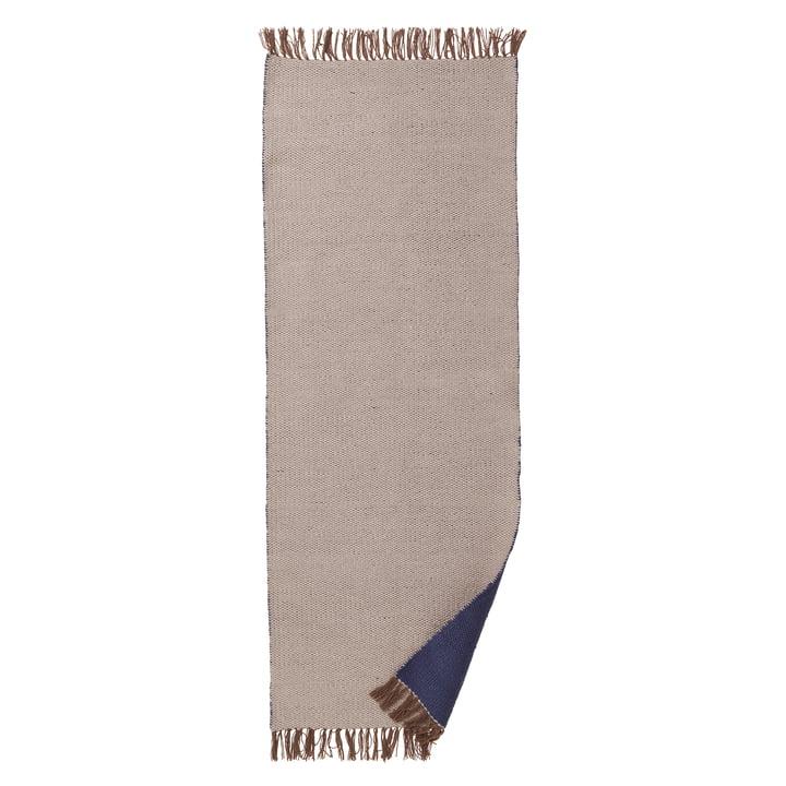 ferm Living - Nomad Teppich large, 70 x 180 cm, dunkelblau