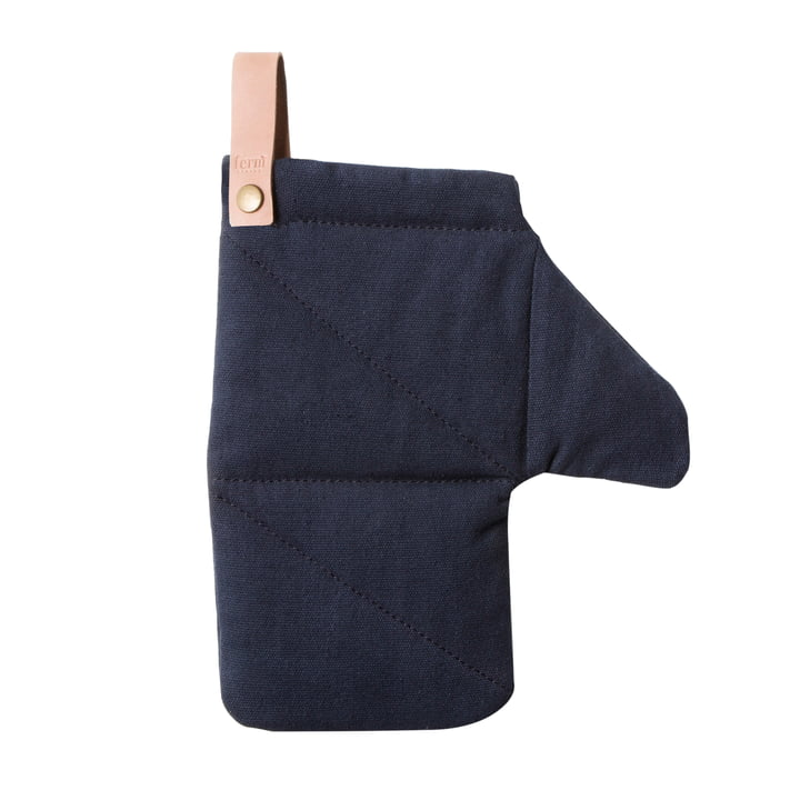 Canvas Ofenhandschuh von ferm Living in Blau
