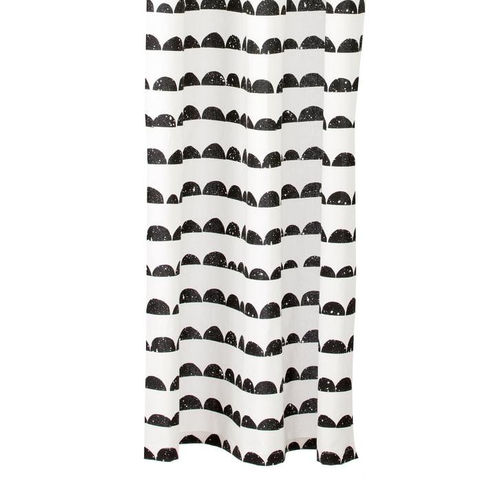 Half Moon Duschvorhang von ferm Living in Schwarz/ Weiß