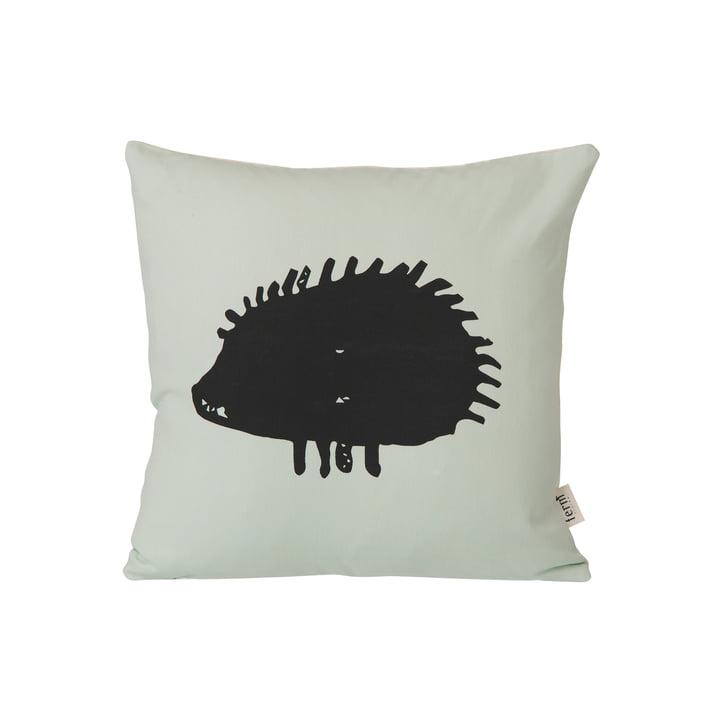 ferm Living - Hedgehog Kissen 30 x 30 cm, mintgrün