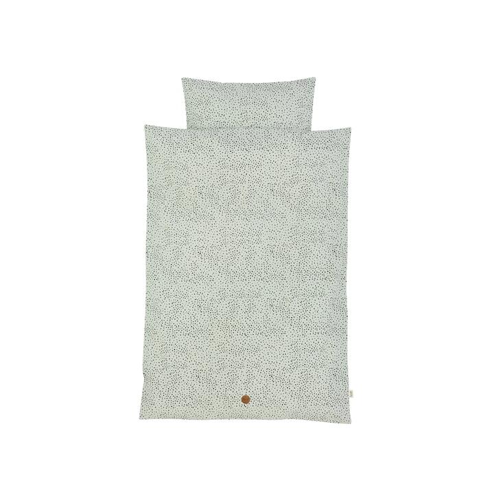 Dot Baby-Bettwäsche 70 x 100 cm von ferm Living in Mintgrün