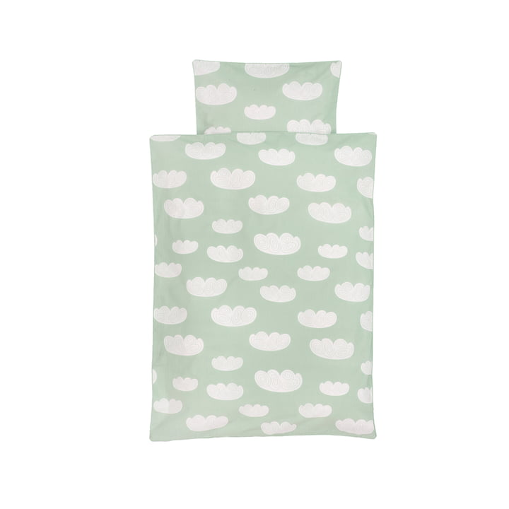 Cloud Baby-Bettwäsche von ferm Living in Mint
