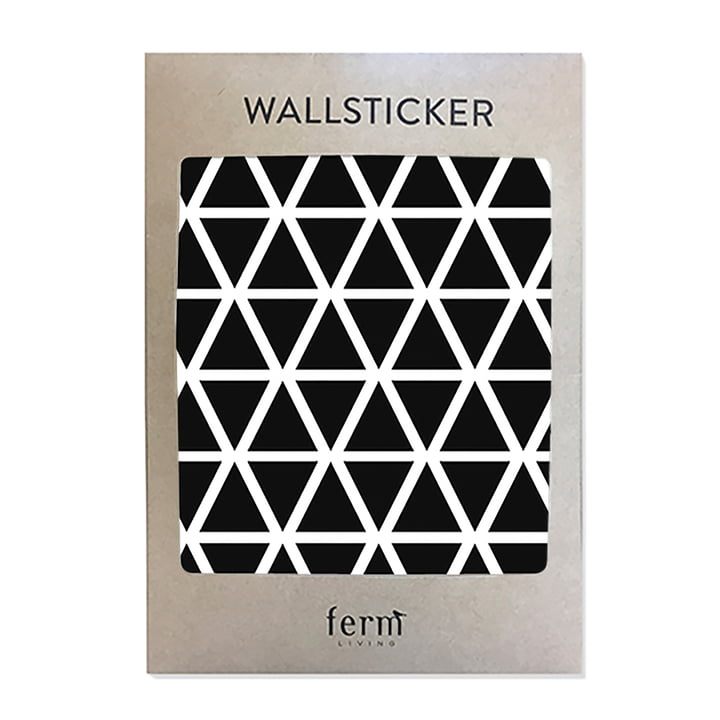Mini Triangles Wallstickers von ferm Living in Schwarz