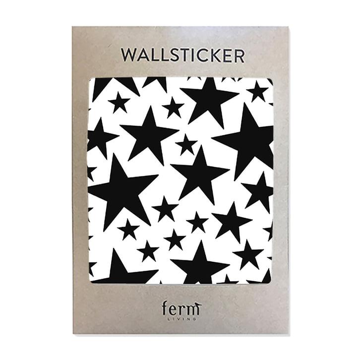 Mini Stars Wallstickers von ferm Living in Schwarz