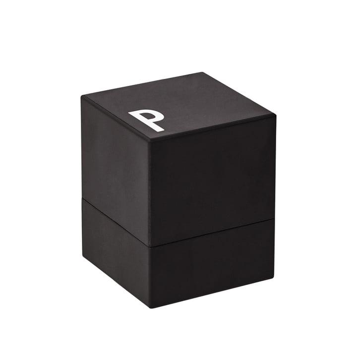 Pfeffermühle von Design Letters in Schwarz