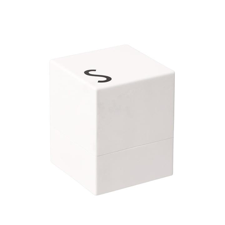 Salzmühle von Design Letters in Weiß