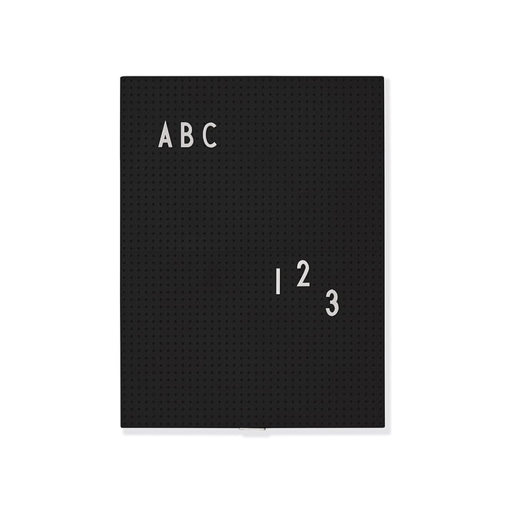 Message Board A4 von Design Letters in Schwarz