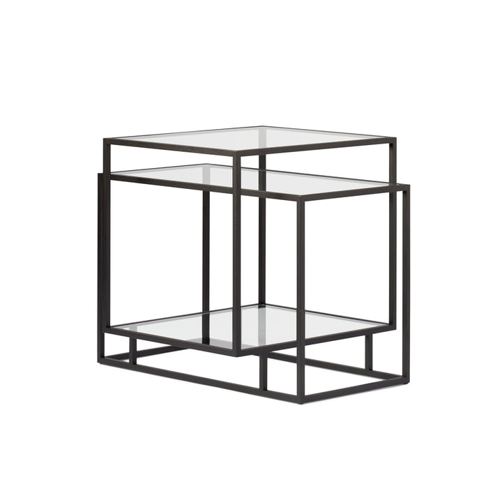 Spectrum - Tangled Side Table, Klarglas / schwarz