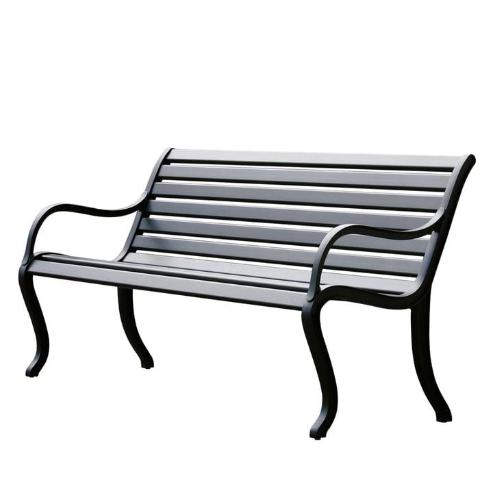 Oasi Sitzbank 127 cm von Fast in Schwarz