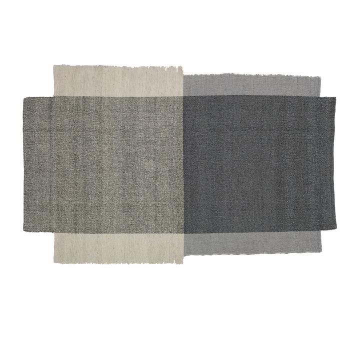 Teppich aus Schurwolle in Grau