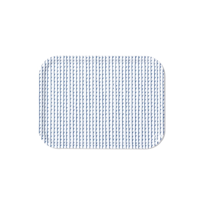 Rivi Tablett in klein von Artek in Weiß / Blau