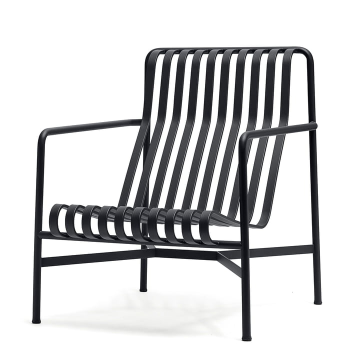 Palissade Lounge Chair High von Hay in Anthrazit