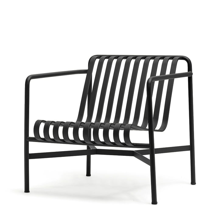 Palissade Lounge Chair Low von Hay in Anthrazit