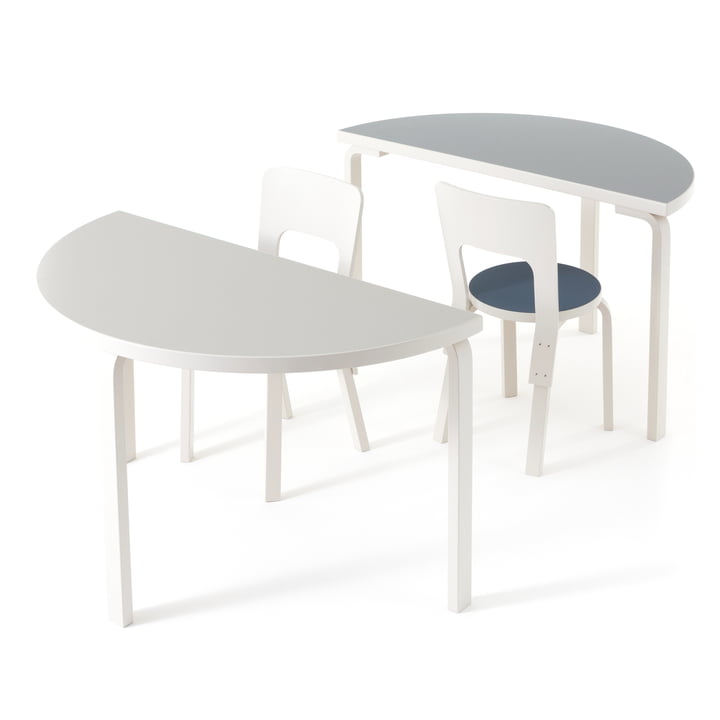 95 Tisch und Hocker von Artek