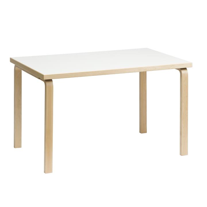 81B Tisch von Artek Birke natur / Laminat weiß