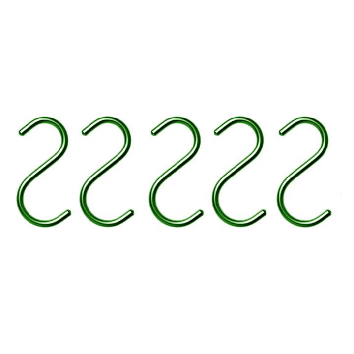 Nomess - S-Hook, dunkelgrün (5er-Set)