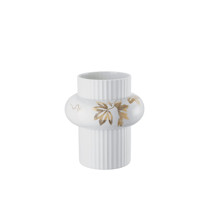 Ode Floral Ornaments Vase H 21 cm von Rosenthal in Weiß / Gold