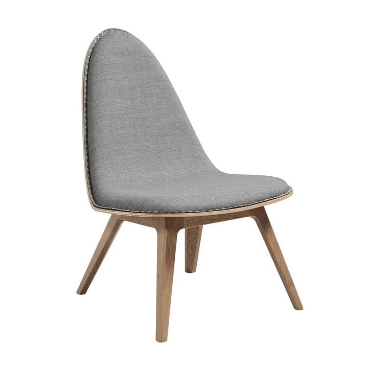 Nordic Lounge Chair von Sack it in Eiche hellgebeizt / Remix hellgrau, mit Nähten