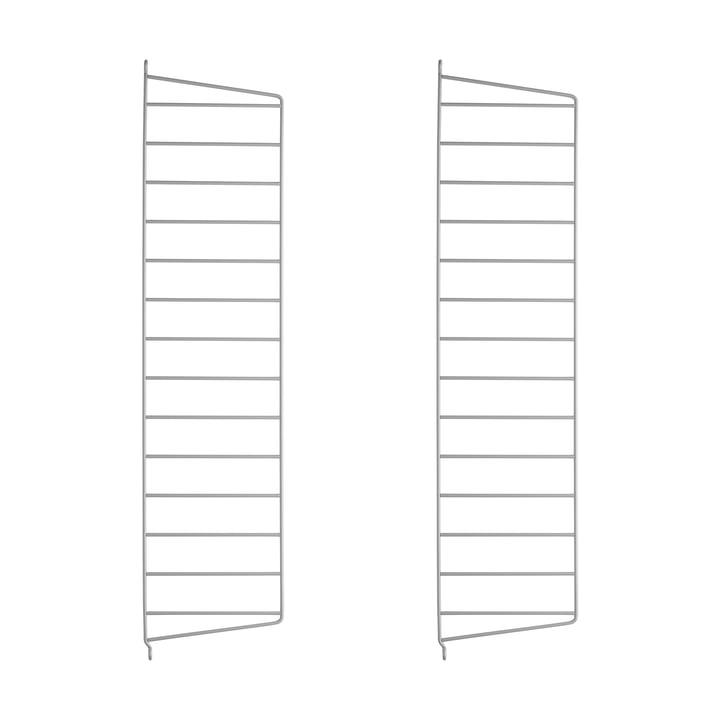 Wandleiter für String Regal 75 cm von String in Grau (2er-Pack)