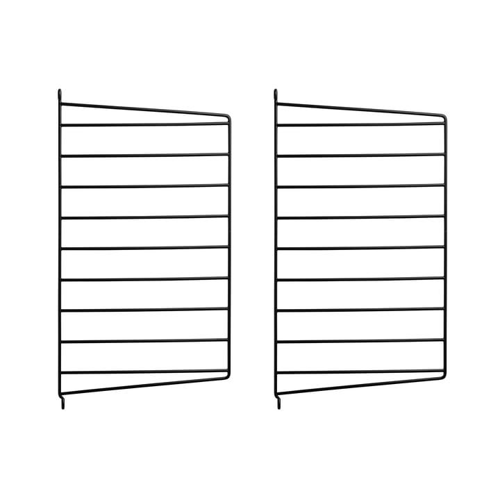 Wandleiter für String Regal 50 x 30 cm von String in Schwarz (2er-Pack)