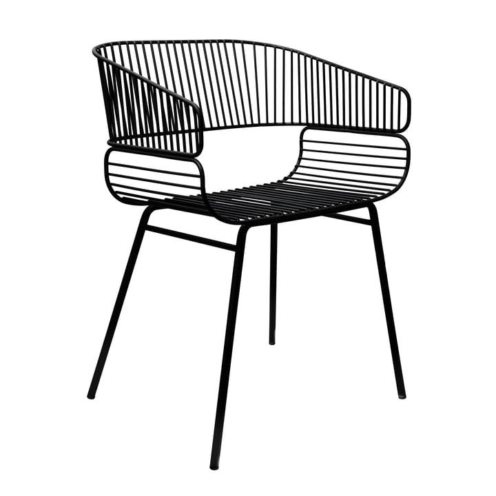 Trame Stuhl von Petite Friture in Schwarz